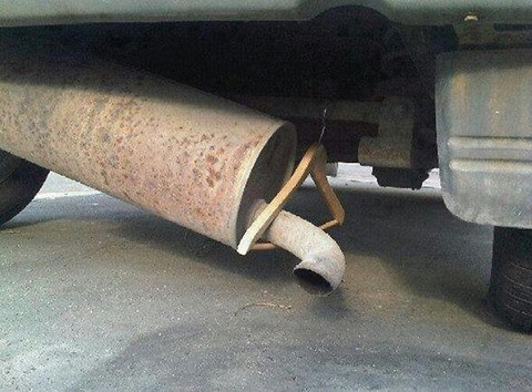 Redneck repair, definitely