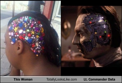 woman totally looks like data Star Trek funny - 7568138496