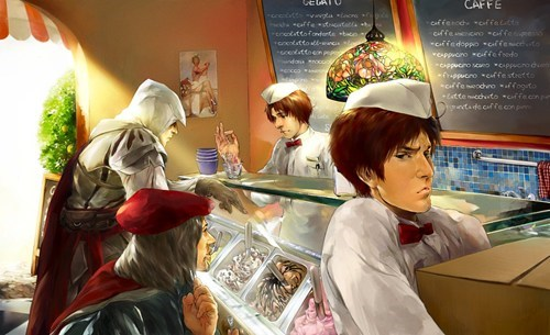 crossover,Fan Art,hetalia,assassins creed