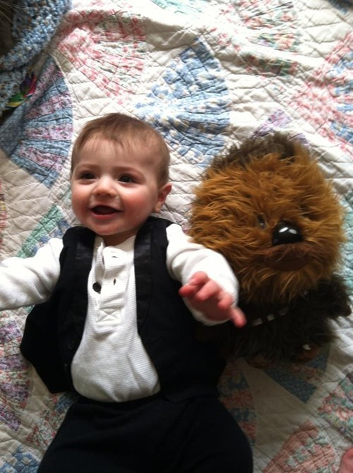 Babies star wars chewbacca Han Solo cutest funny - 7568390912