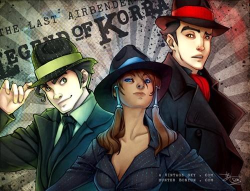 Fan Art korra cartoons noir - 7568393984
