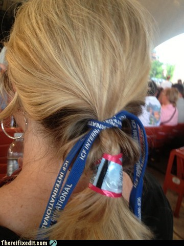 hair,labels,hair tie,lanyard,funny