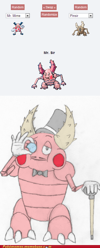 mr-mime pokemon fusion pinsir sir - 7568501504