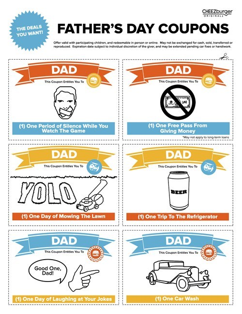 fathers day,cheezburger original,coupons,funny
