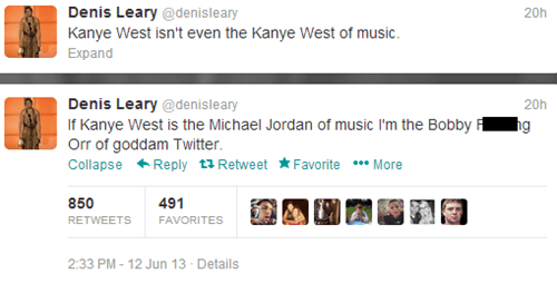 Music,twitter,denis leary,kanye west,funny