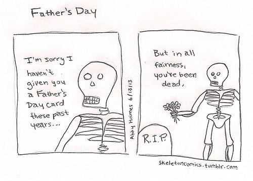 dads fathers day rip skeletons father's day cards funny - 7568668416
