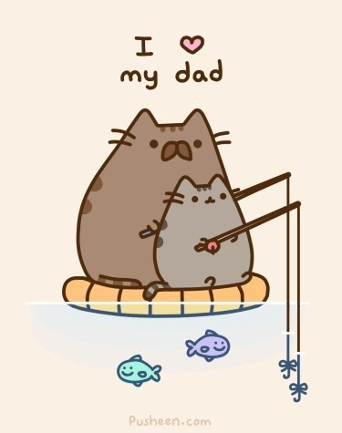 dads fathers day fishing Cats funny - 7568683264