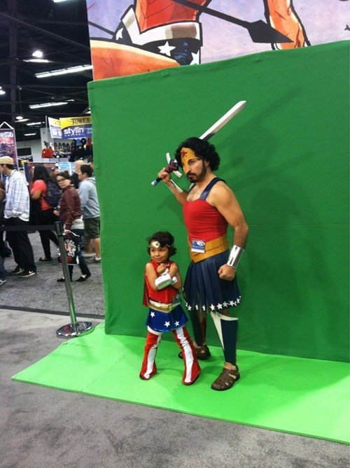 fathers day,cosplay,wonder woman,kids,cute