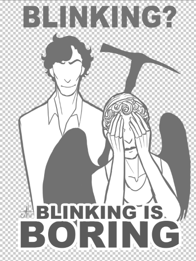 crossover,weeping angels,Fan Art,doctor who,Sherlock