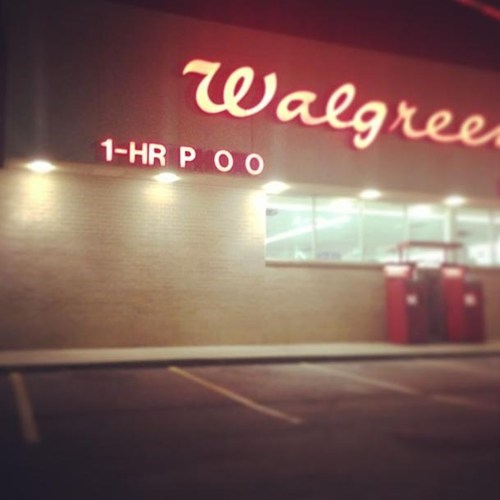 Walgreens toilet neon signs one hour photo monday thru friday g rated - 7568881408
