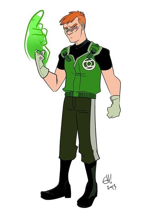 art Green lantern guy gardner funny - 7568896000