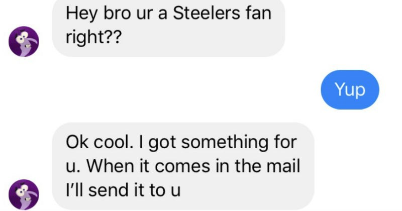 friendship pittsburgh steelers text conversation football win autograph present gift - 7568901