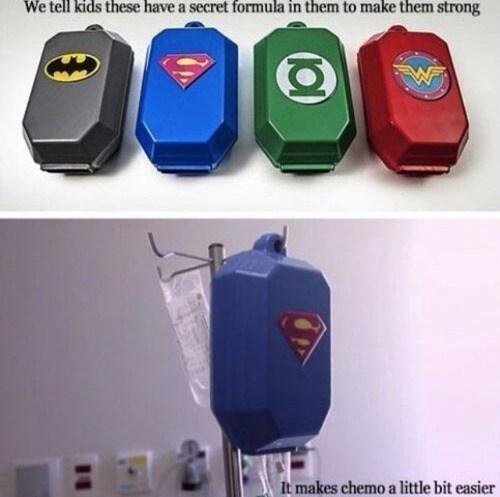 chemo kids medicine batman superman - 7568916736