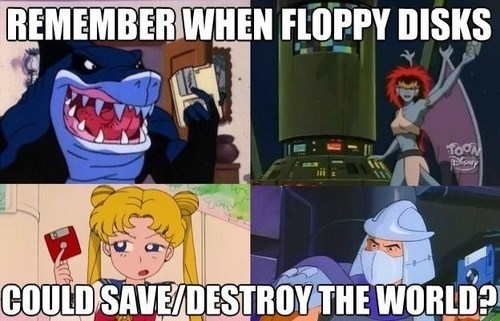 nostalgia,cartoons,floppy disks