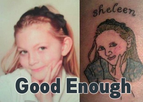 Close Enough portraits tattoos funny - 7569291776