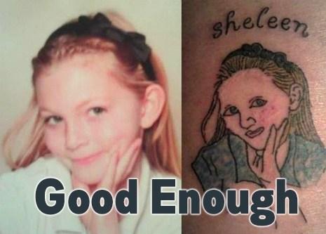 Close Enough portraits tattoos funny - 7569291776