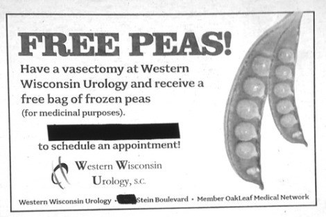 Ad,vasectomy,funny,newspaper