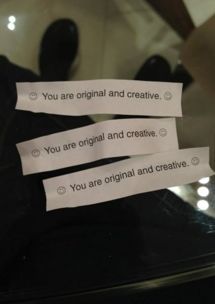 fortune cookie creative irony funny