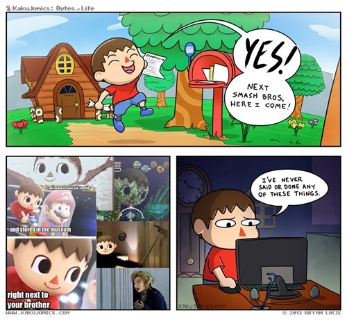 super smash bros comics animal crossing