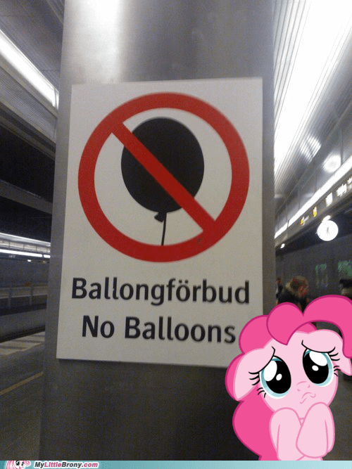 no balloons IRL signs pinkie pie parties - 7570039552
