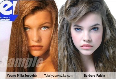 Something similar? Milla jovovich when she was young consider, that