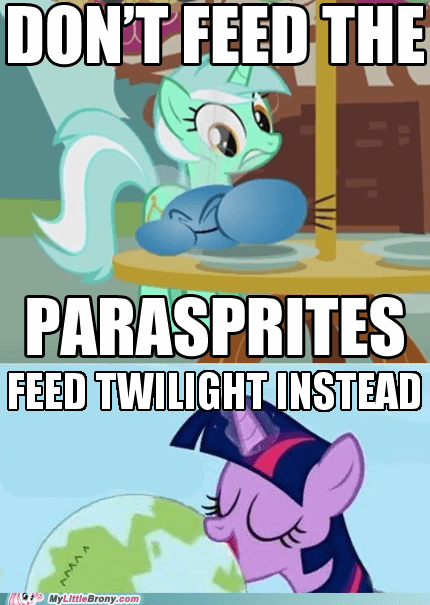 twilight sparkle,hungry twilight,parasprites