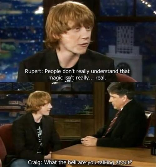 Harry Potter muggle Ron Weasley - 7571618304