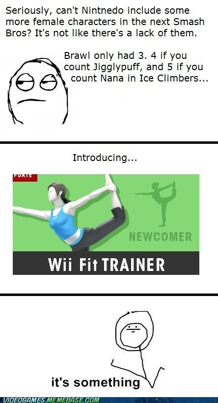super smash bros,wii fit trainer
