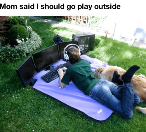 go play outside,outside,funny,technology addiction