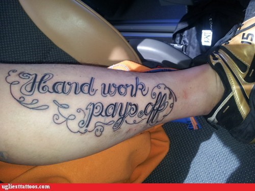 hand work text tattoos funny - 7571964928