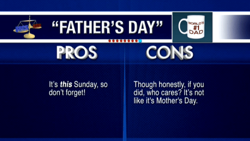 fathers day pros and cons mothers day funny