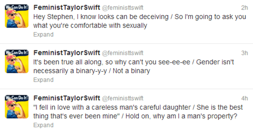 taylor swift Music twitter feminism funny - 7572186880
