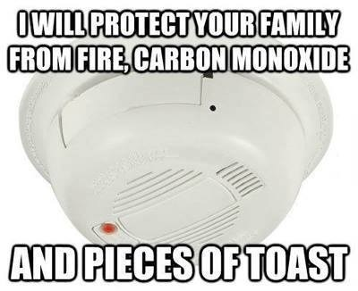annoying,smoke alarm,cookng,food