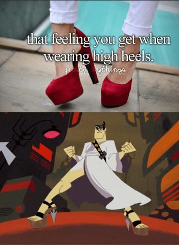 heels funny samurai jack - 7572276736