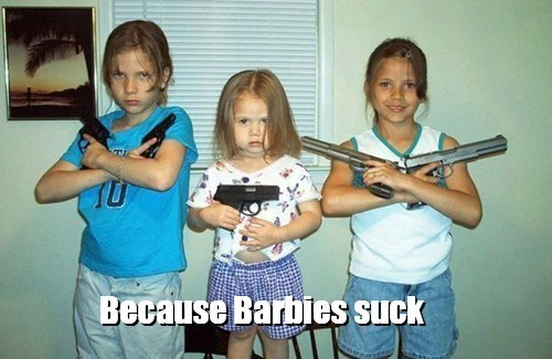 guns kids hope it's not loaded funny