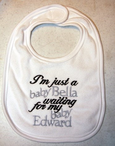 Babies edward cullen gag me twilight funny bibs poorly dressed g rated - 7572534784