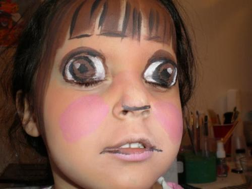 kids,dora the explorer,funny,face paint