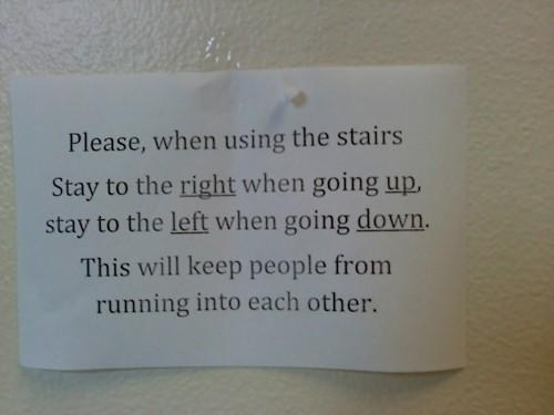 sign stairs irony funny fail nation g rated - 7572867072