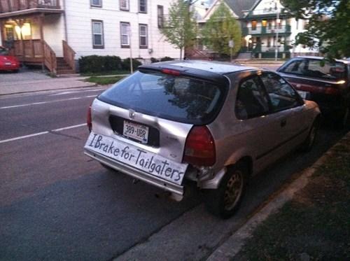 tailgate cars funny bumper - 7572867584