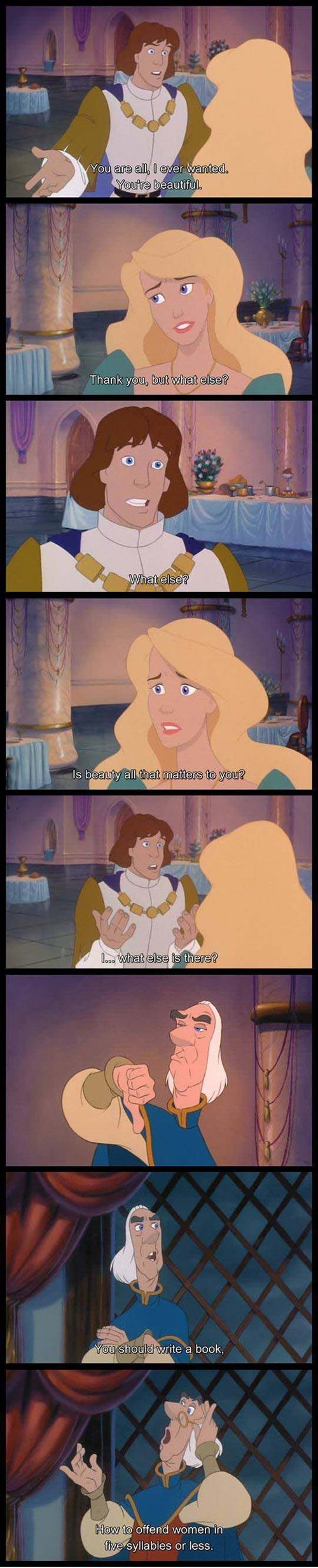 quotes,the swan princess,cartoons,wooing,funny,g rated,dating