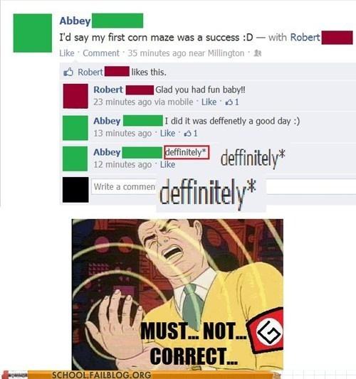 grammar nazi,facebook,spelling,funny
