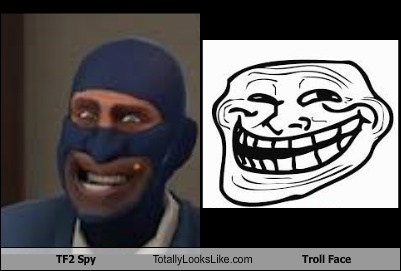 TF2 Spy Totally Looks Like Troll Face