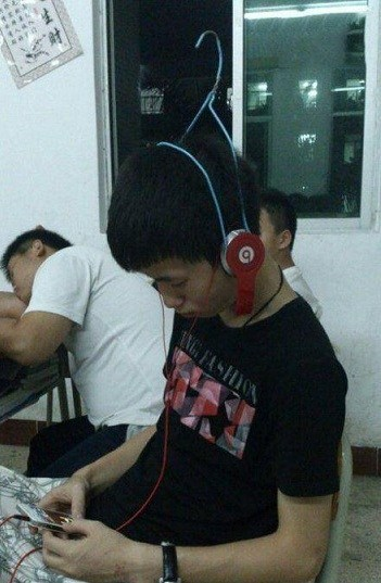 Music coat hangers headphones funny