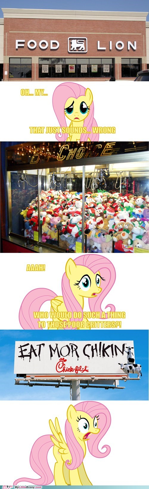 FlutterShy Discovers the Real World