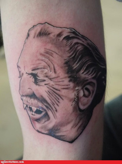 vampires tattoos vincent price funny - 7575117568