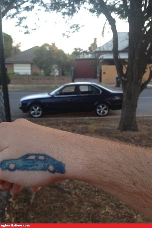 cars hands tattoos funny - 7576197632