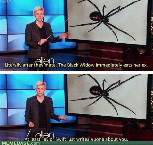 taylor swift Music Black Widow ellen degeneres funny - 7576214272