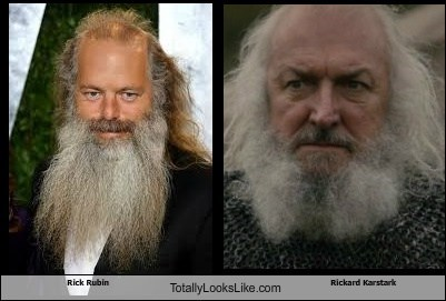 rick rubin,Game of Thrones,totally looks like,rickard karstark,beards,funny