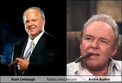 Rush Limbaugh archie bunker totally looks like funny - 7577884928