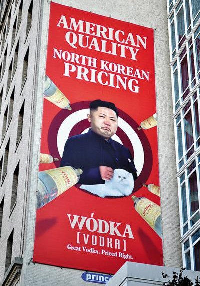 kim jong-un,advertisments,vodka,funny